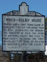 Macy-Colby house sign